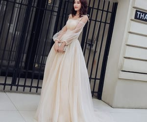 girl, prom dress, and summer dress image