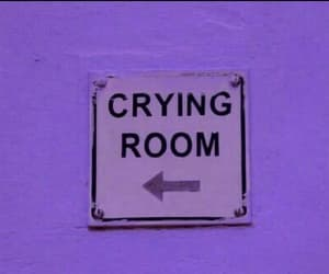 cry, sad, and room image