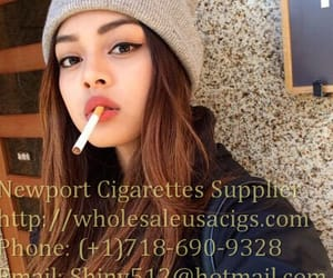smoking girl, newport 100s cigarettes, and cigarettes online image