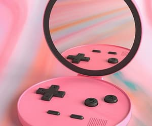 game boy, girly, and mirror image
