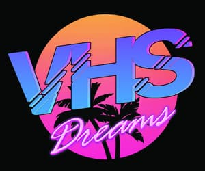 90's, vhs, and neon image