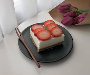 food, rose, and strawberry image