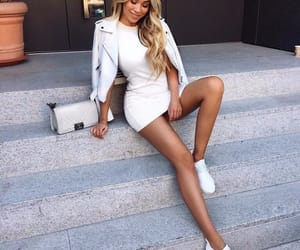 fashion, white, and look image