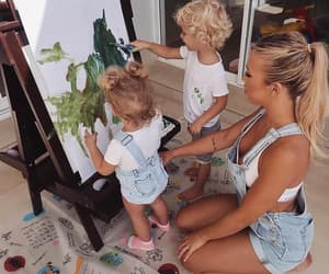 family, kids, and paint image