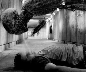 harry potter, black and white, and dementor image