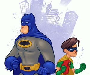 art, Batman and Robin, and humor image