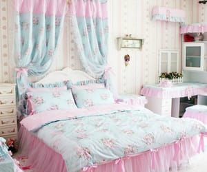floral, shabby chic, and frills image