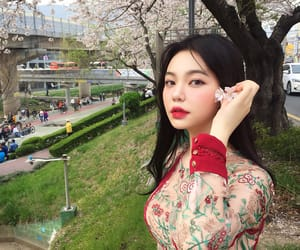 asian, flowers, and girl image
