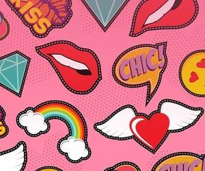 fashion, pattern, and kiss image