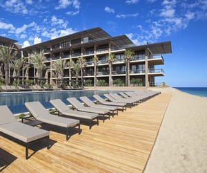 beach, mexico, and hotel image