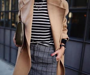 outfit, stripes, and skirt image