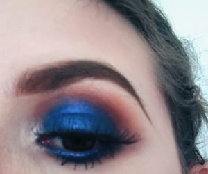 blended, blue, and eyelashes image