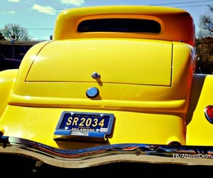 automobile, hot rod, and yellow image