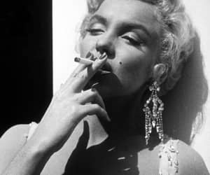 Marilyn Monroe, smoke, and smoking image