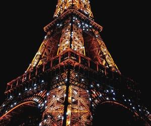 paris, lights, and travel image