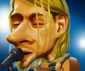 art, cobain, and humor image