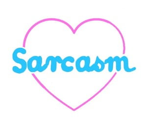 sarcasm, heart, and pink image