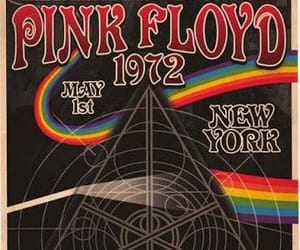 Pink Floyd, poster, and psychedelic image