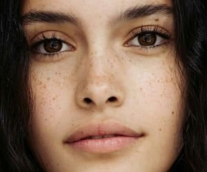 beauty, freckles, and eyes image