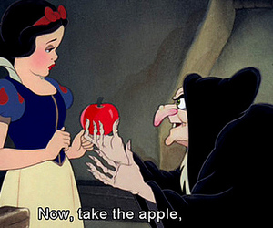 snow white, apple, and witch image