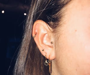 ear, gold, and helix image