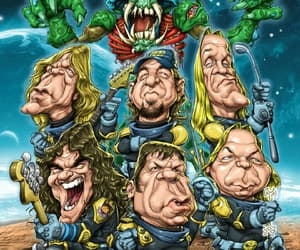 Adrian Smith, band, and art image