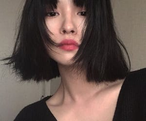 aesthetic, asian girl, and short hair image