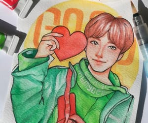 fanart, bts, and watercolor image