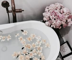 flowers, bath, and interior image