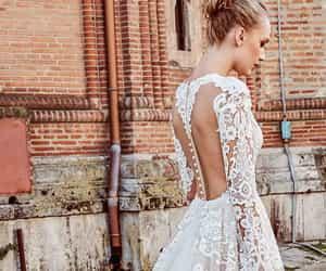 beautiful, wedding dress, and bridal image