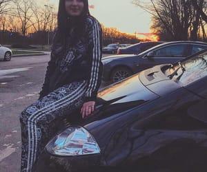 adidas, sunset, and car image