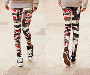 converse, leggings, and england image