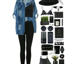 accesories, clothes, and denim image
