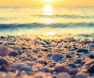 beach, sunset, and summer vibes image