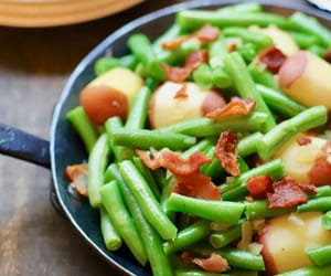 article, garlic, and green beans image