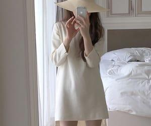 korean fashion, korean girl, and mirror image
