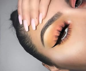 beauty, nails, and eyeshadow image