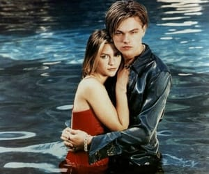 leonardo dicaprio, claire danes, and romeo and juliet image