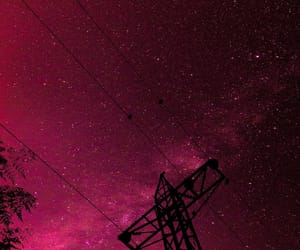 night, pink, and silhouette image