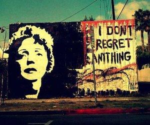 edith piaf, regret, and art image