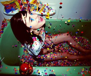 girl, candy, and party image