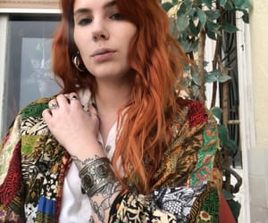 bohemian, redhair, and smoke image
