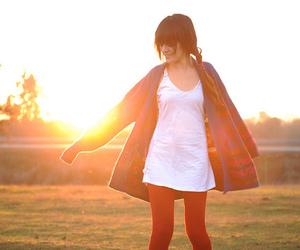 bangs, girl, and sunshine image