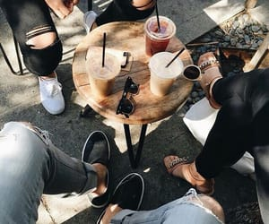 friends, drink, and coffee image