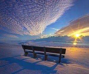banco, invierno, and sol image