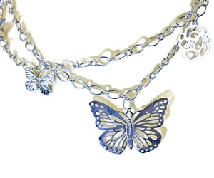 etsy, lightweight, and butterfly necklace image