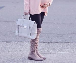 bag, boots, and fashion image