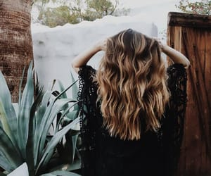 hair, nature, and plant image