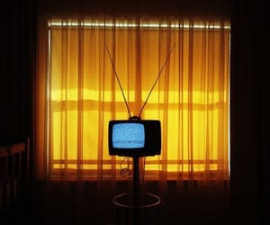 tv and yellow image