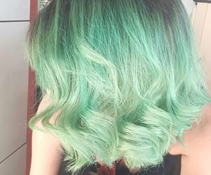 alternative, colored hair, and green hair image